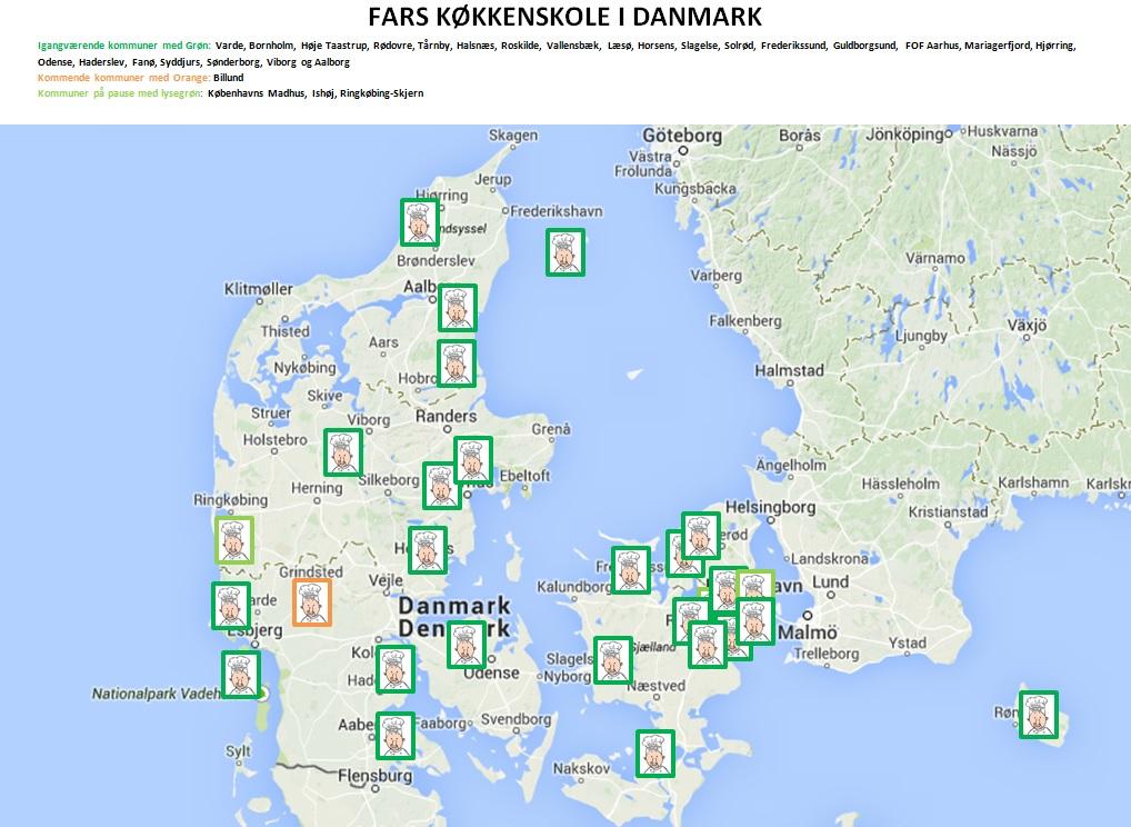 Stort Kort Over Kommuner Fars Kokkenskole